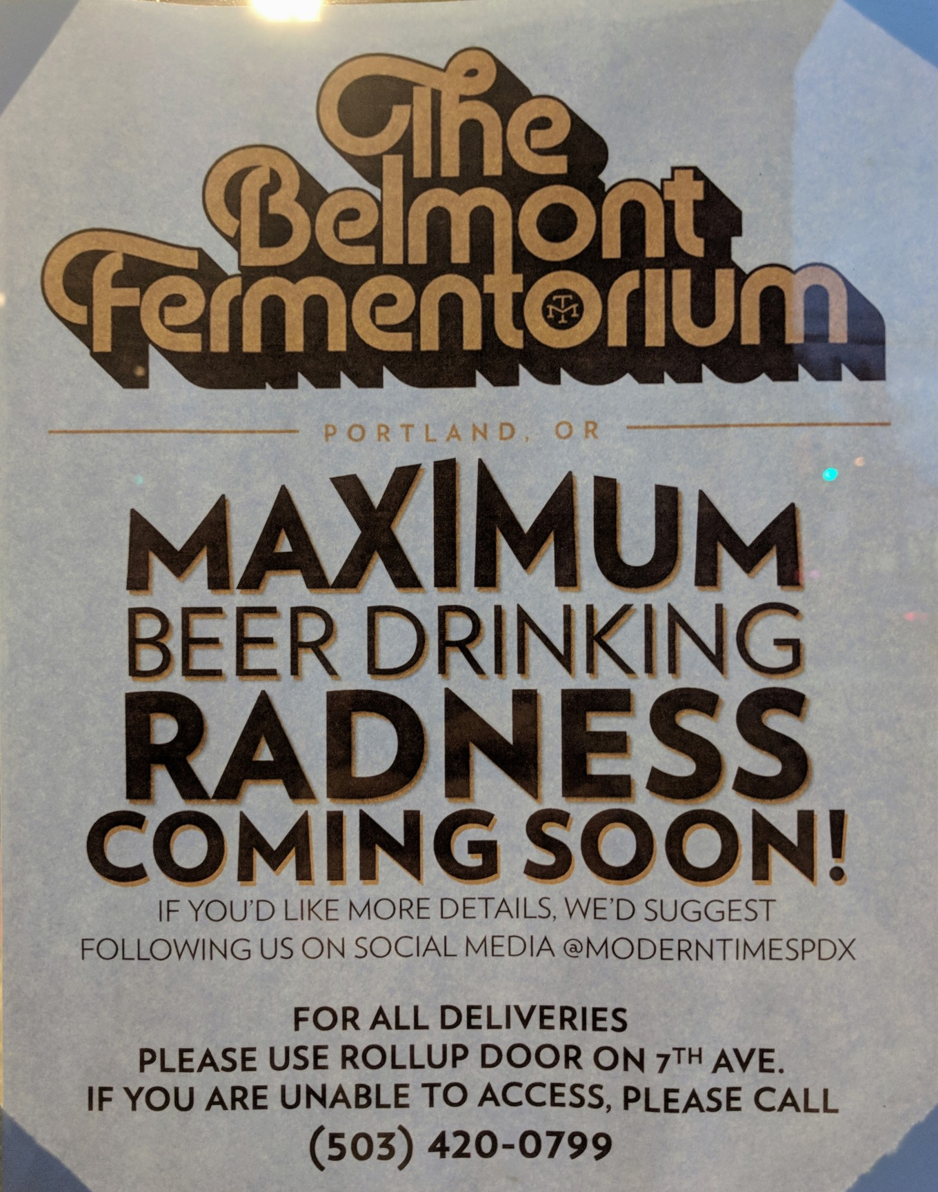 Belmont Fermentorium Announcement