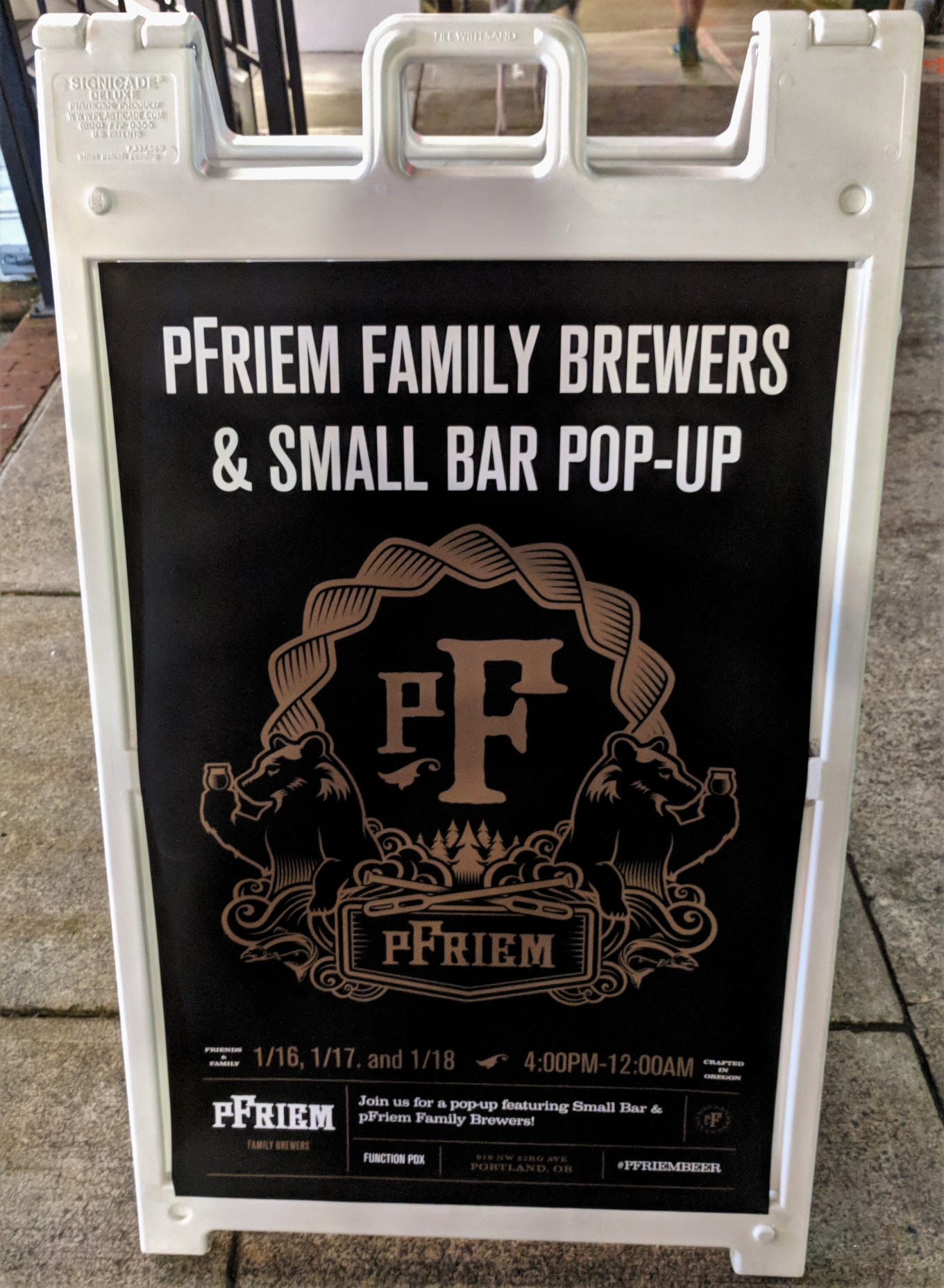 pFriem Small Bar Function