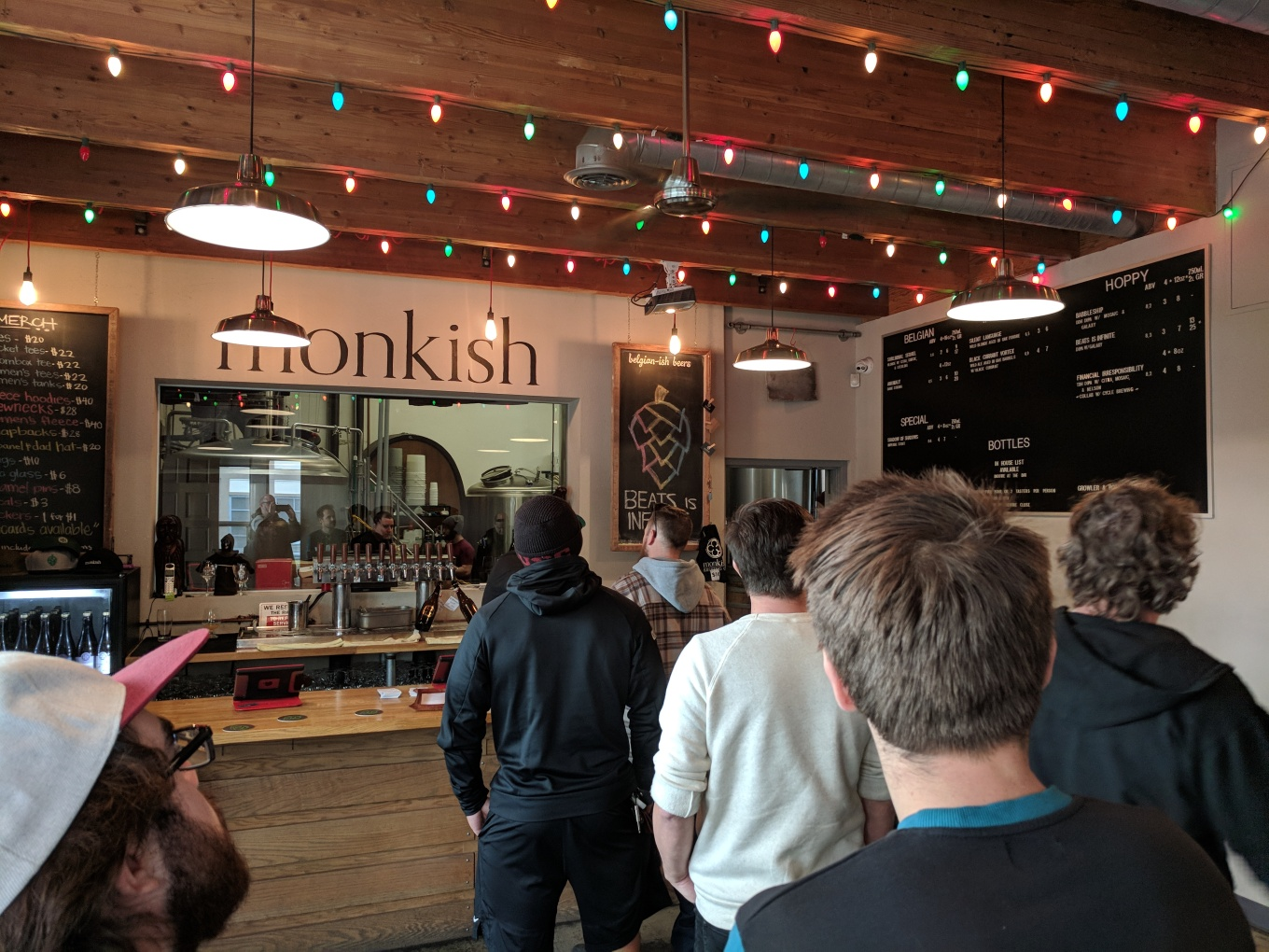 Monkish Brewing Taproom Line