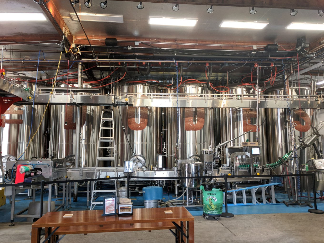 The Dudes Brewing Torrance bright tanks