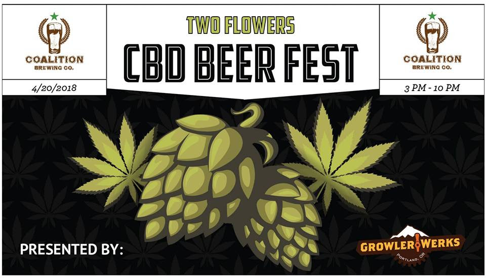 Coalition Brewing Two Flowers CBD Beer Fest 420