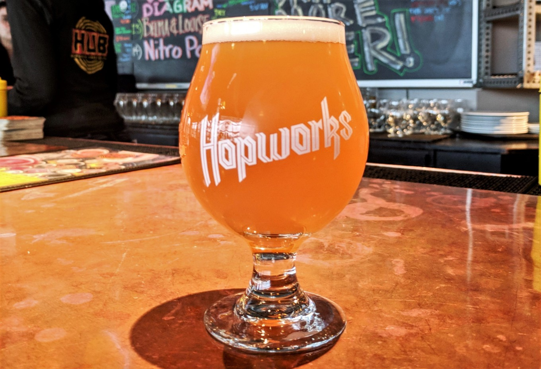 Hopworks Urban Brewery HUB Hazy IPA 10th Anniversary