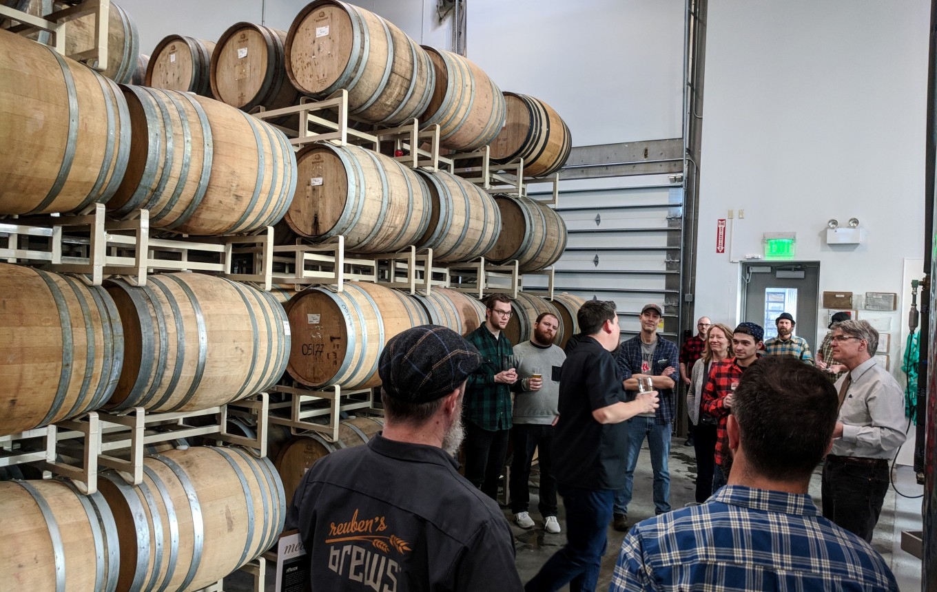 pfriem family brewers barrel room gavin lord head brewer