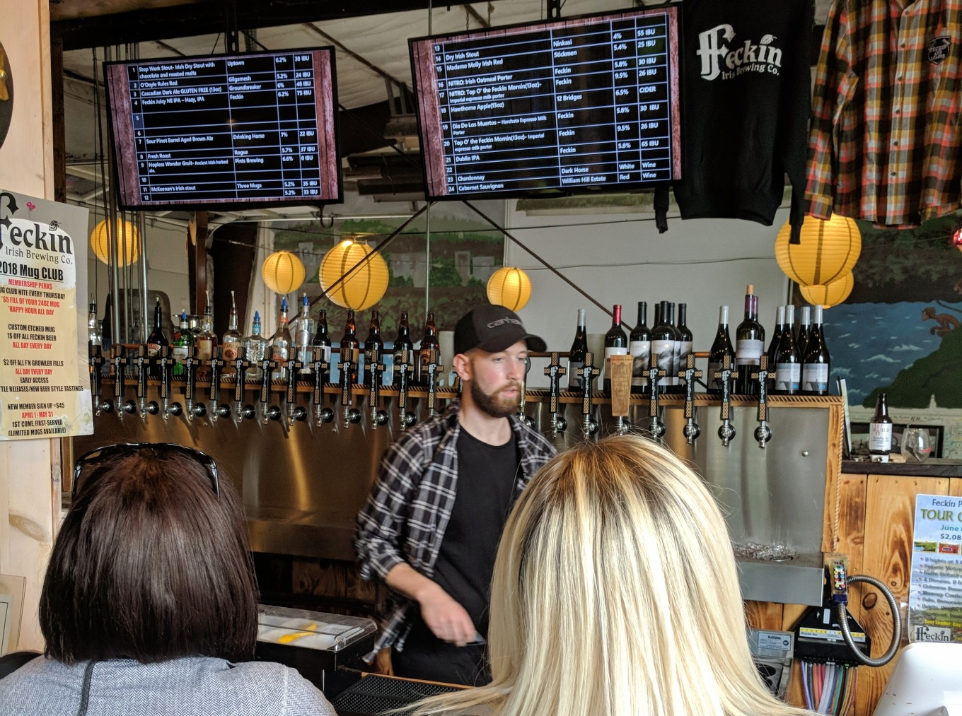 Feckin Brewery Taproom Tap List Oregon City