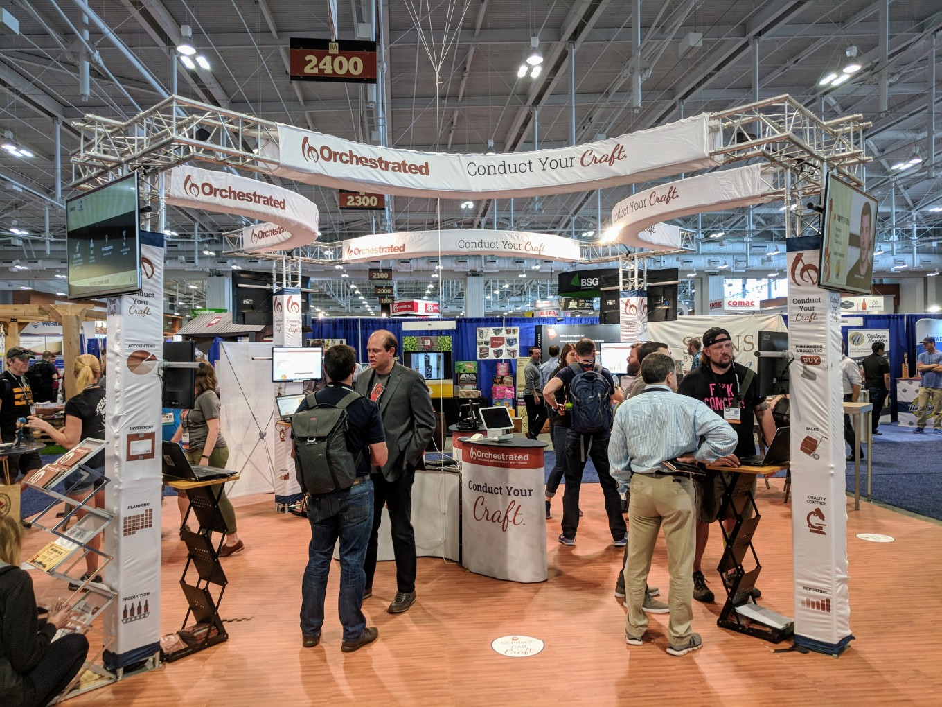 Orchestrated Beer Booth CBC 2018 BrewExpo OBeer