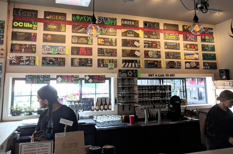 Oregon City Brewing Tap List