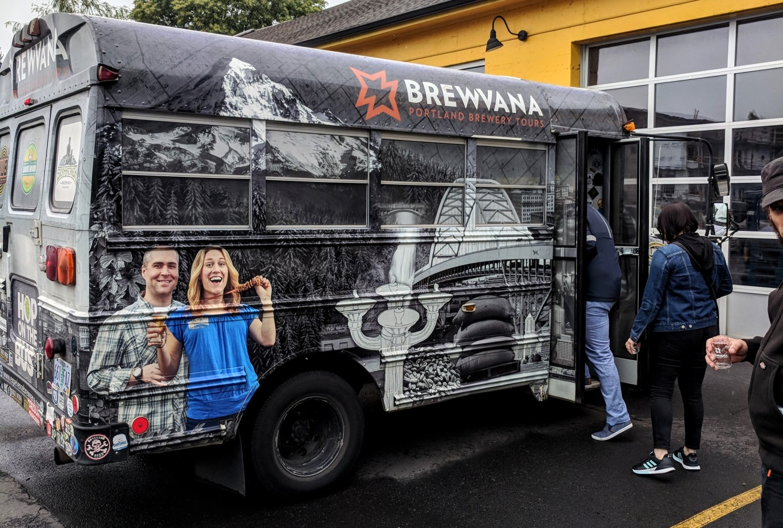 Brewvana Bus Hopworks Urban Brewery Portland Tourism