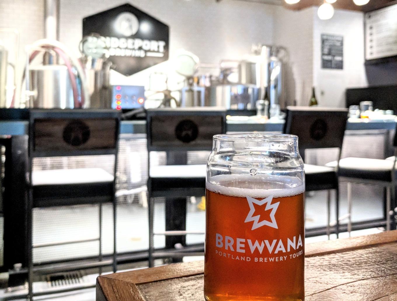 Brewvana Glass BridgePort Brewing Portland Tourism
