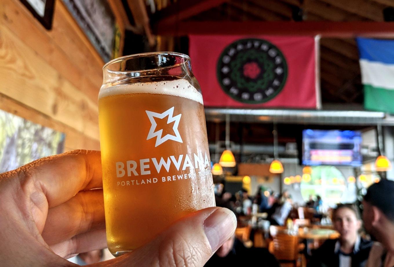 Brewvana Glass Hopworks Urban Brewery Portland Tourism