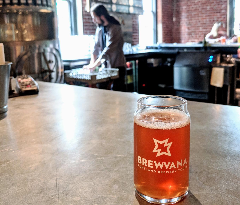 BREWVANA Tour BridgePort Brewing Taproom Rose Portland Tourism