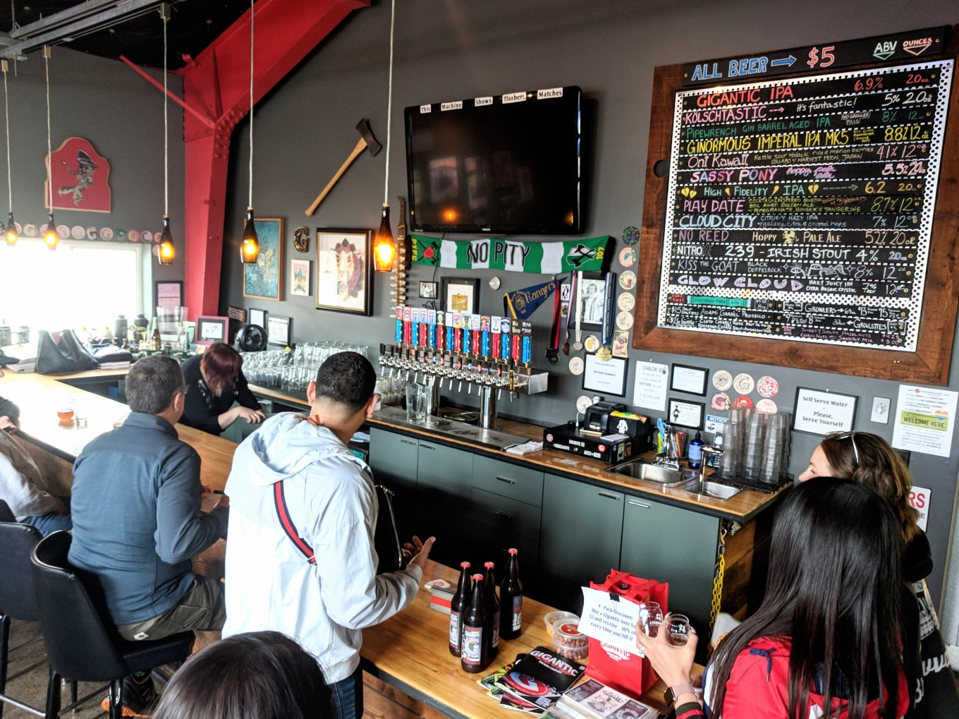 BREWVANA Tour Gigantic Brewing Taproom Tourism