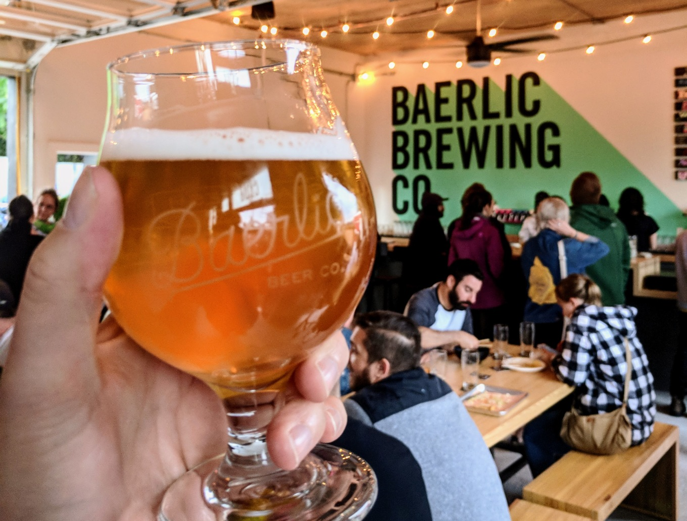 Baerlic Brewing Beer Hall at the Barley Pod Portland Oregon