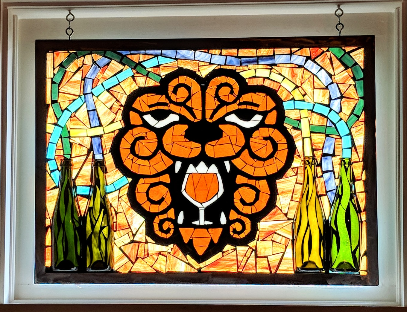 Little Beast Beer Garden Portland Oregon Stained Glass