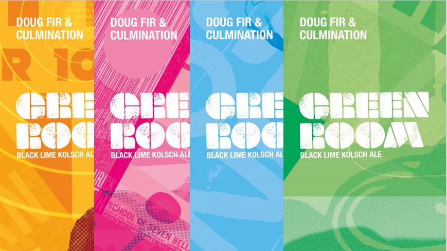 Culmination Doug Fir Green room Kolsch collage