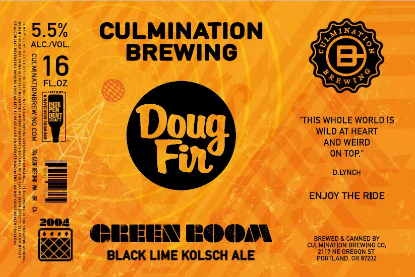 Culmination Doug Fir Green Room Orange Label