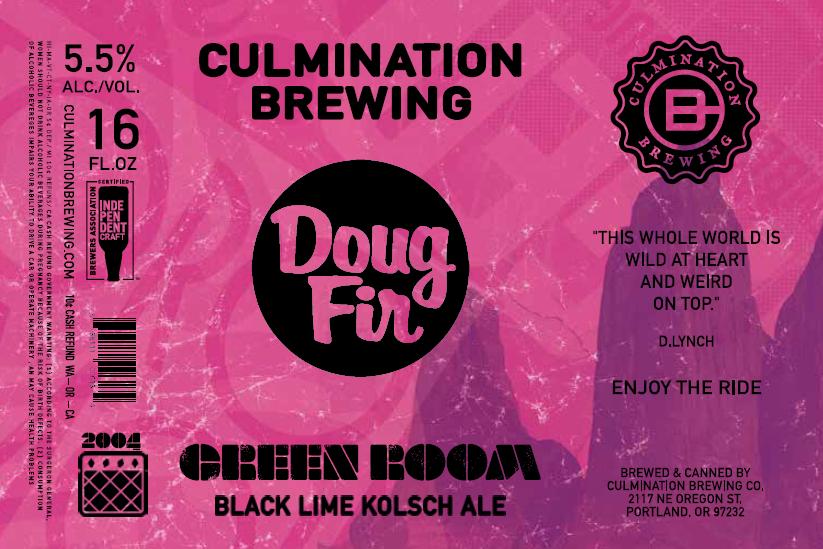 Culmination Doug Fir Green Room Pink Label