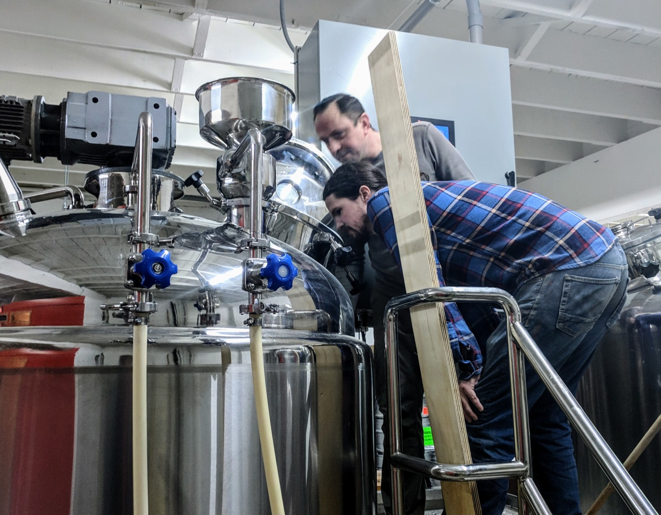 first brew day jarek and david threshold brewing and blending portland
