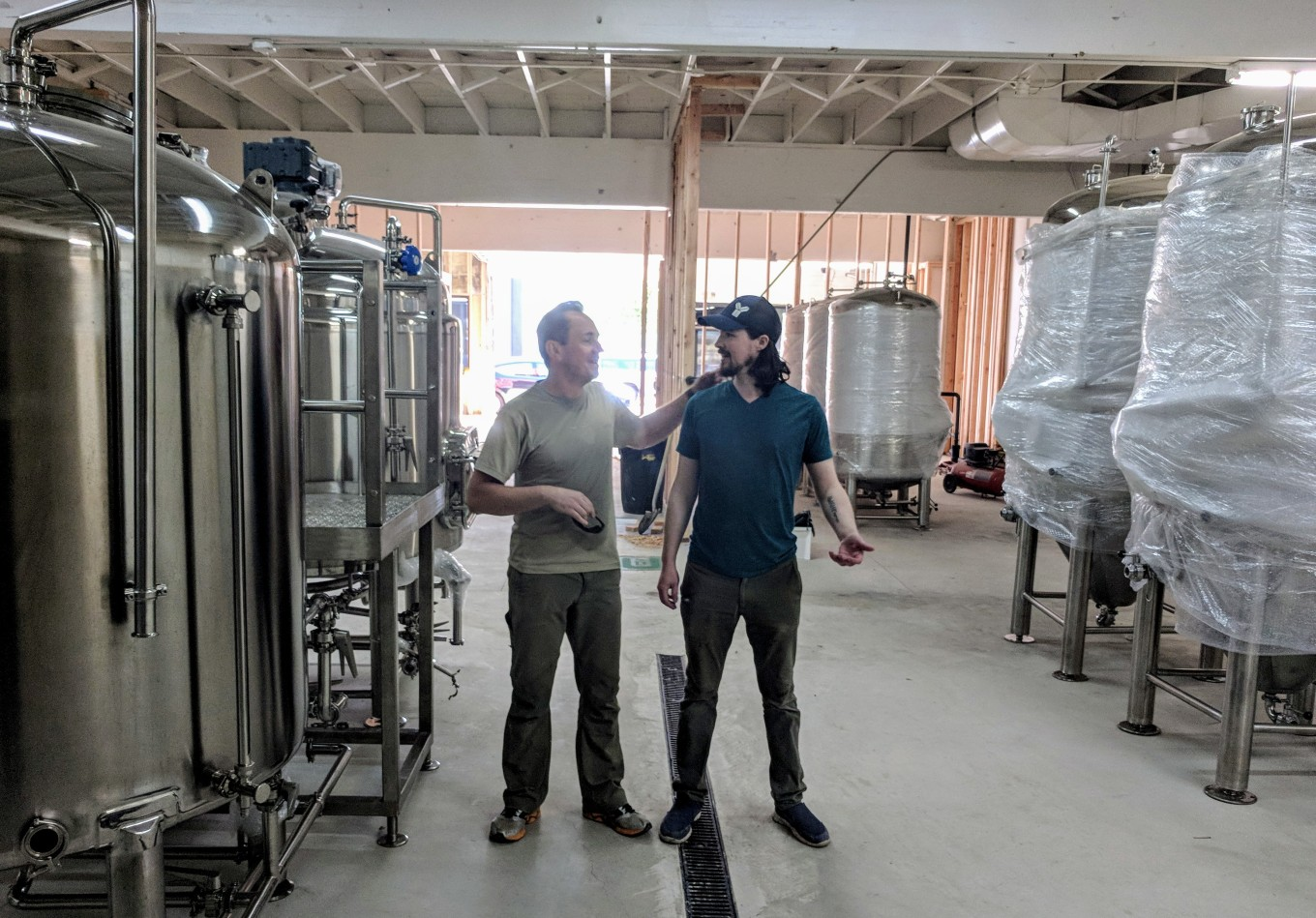jarek and david new brewhouse threshold brewing and blending portland