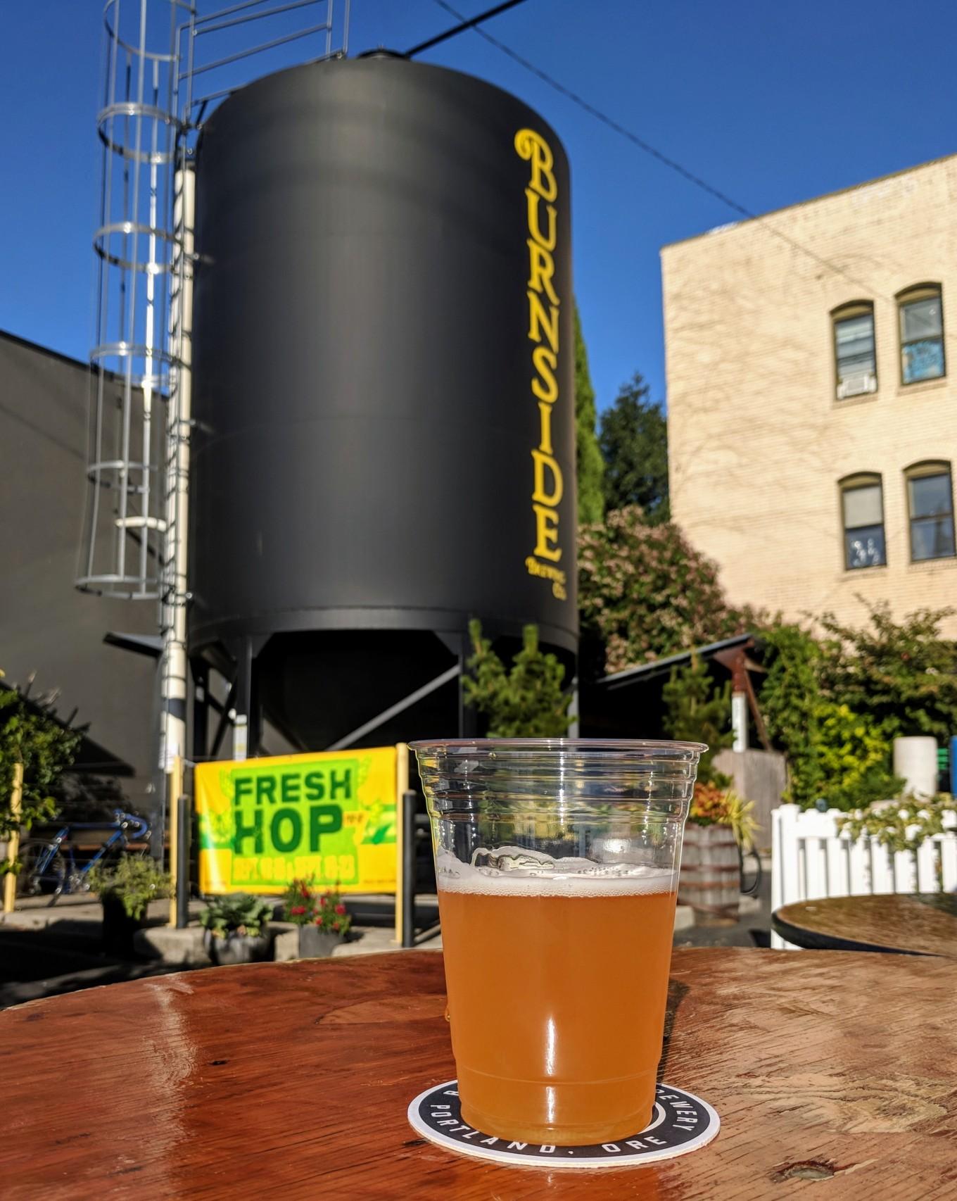 Burnside Brewing Fresh Hop Pop 2018 Portland Oregon