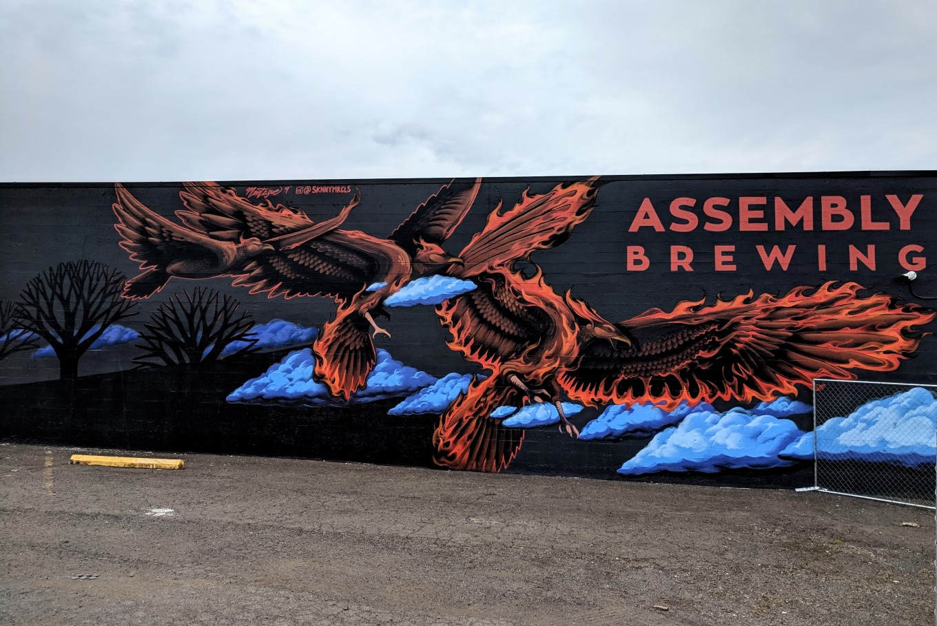 Assembly Brewing Mural Large Portland Oregon