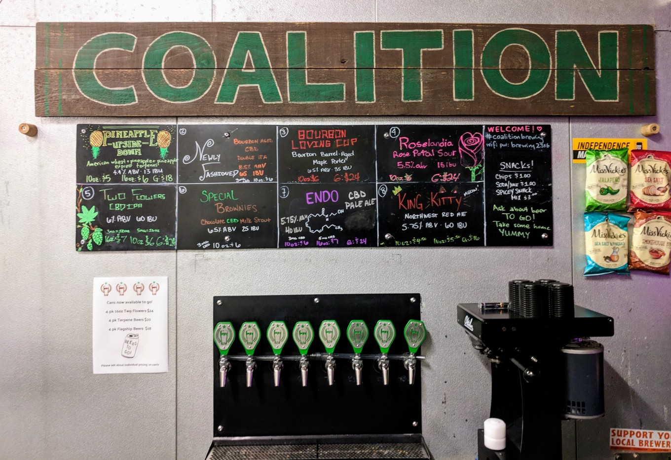 Coalition Brewing Taps Home of CBD Beer Portland Oregon