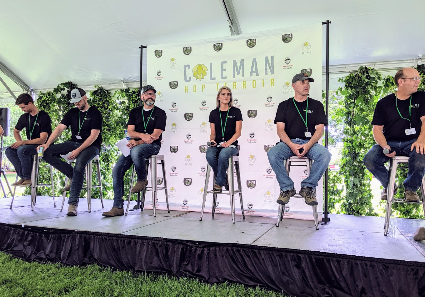Panel at Coleman Hop Terroir Independence OR
